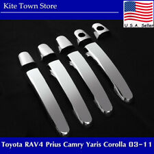 Chrome Door Handle Covers for Toyota RAV4 Prius Camry Yaris Corolla 2003-2011