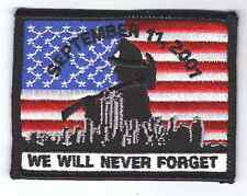 """AMERICAN FLAG patch 911 Tribute, commemorative patch 3.5"""" heat seal"""