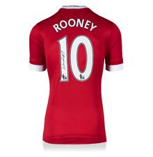 Wayne Rooney Manchester United Autografado/Assinado 2015-16 Jersey ícones Autêntico