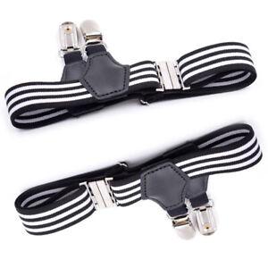 1 Pair Adjustable Men Sock Suspenders Elastic Garter Hold Up Braces Clip