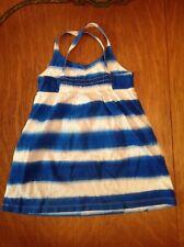 Mini Boden Tie Dye Tank Top Tunic Size 4-5 Y Striped Summer NWOT