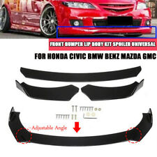 Front Bumper Lip Body Kit Spoiler Universal  For Honda Civic BMW Benz Mazda GMC