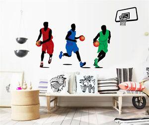 Basketball Player NBA Children Boy Bedroom Wall Stickers Vinly Decals Decor UK