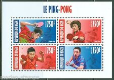 NIGER 2013  CHINESE PING PONG PLAYERS SHEET OF FOUR MINT NH