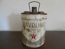VINTAGE HAVOLINE 5 GALLON MOTOR OIL TEXACO CAN