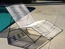 Vintage Mid Century Patio Outdoor / Indoor Chaise Lounge Eames Era Brown Jordan
