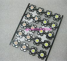 10pcs 3W High Power LED Emitter Cold White 25000K - 30000K + 20mm Star PCB Base