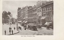 Antique POSTCARD c1905-07 Main Street WORCESTER, MA MASS. Unused 13117