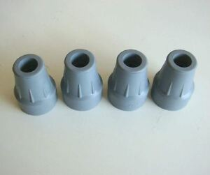 """4 of 22mm Coopers Ferrules Crutch tip Walking Stick Frame Ends 7/8"""""""