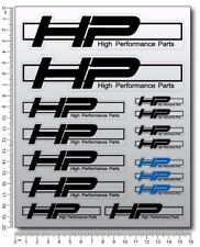 BMW HP Performance parts motorcycle decals 15 stickers set HP4 HP2 Laminated HP