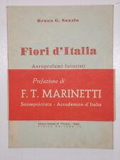 Sanzin FIORI D'ITALIA AEROPOEMI FUTURISTI Collaudo Marinetti Autografo 1942 1^