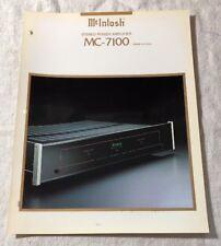 MCINTOSH MC-7100 STEREO POWER AMPLIFIER ORIGINAL COLOR ADVERTISEMENT M560