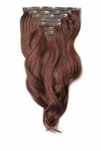 Foxy Locks Human Remy Clip In Hair Extensions - Elegant Full Head - 20+ Colours
