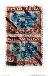 South Africa 1932 Ox Wagon 2s 6d SG49a used bilingual pair
