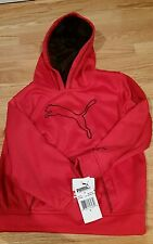 New Red PUMA Hooded Kids Boys size 5 Hooded sweatshirt,athletic stretch material