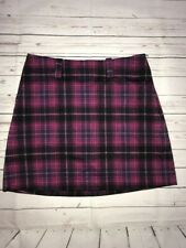 Nike Golf Women's Purple Black Plaid Skirt Size 6