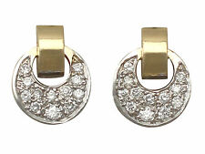 0.36ct Diamond, 18ct Yellow Gold and 18ct White Gold Earrings - Vintage German