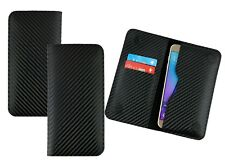 Textured PU Leather Magnetic Slim Wallet Case Cover Fits Polaroid Phones