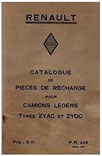 RENAULT - Catalogue de pièces de rechange pour camions légers Types ZYAC et ZYDC