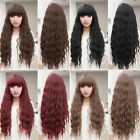 Beauty  Womens Lady Long Curly Wavy Hair Full Wigs Cosplay Party F7
