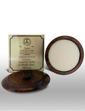 Taylor Of Old Bond Street Sandalwood Shaving Soap In Wooden Bowl &100g Bar-01050