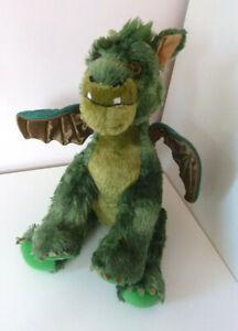 "Build A Bear Elliot Petes Dragon Soft Plush Toy Green 14"""