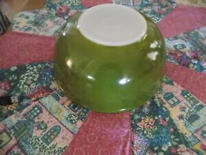 Dark Green  Pyrex Mixing, Nesting Bowl # 404