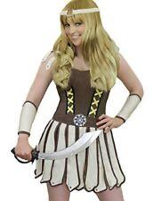 XENA Romain Soldat Grec Costume Guerrier Robe Bandeau et Bras Manches Taille 10