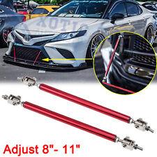 Red Adjustable Bumper Lip Splitter Strut Rod Tie Support Bar for Toyota Camry 86
