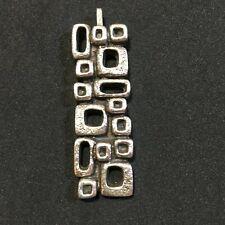 Seltener Modernist Design 70er Jahre Vintage Silber Anhänger 835er Silber