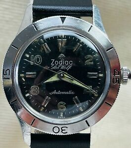 Extremely Rare Zodiac Sea Wolf Early Ref. 699 Divers Wristwatch