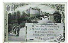 1908 Mint Germany Post Card Saxony Stamp Imprints