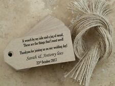 25 Personalised Wedding Favour Gift Tags, tea cup tags, Luggage Tag