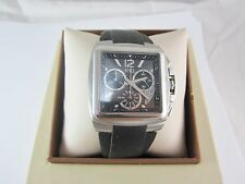 MEN'S ESQ BY MOVADO SS WATCH WITH BLACK SILICON BAND; MODEL :07301334