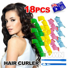 18PCS DIY Magic Hair Curler Leverag Curlers Formers Spiral Styling Rollers