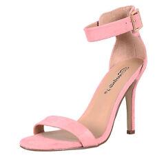 New Women's Ankle Strap Open Toe Stiletto High Heel Single Sole Pump Sandal Shoe