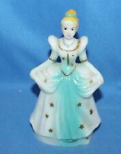 "Vintage Disney Cinderella Plastic Cake Topper Figurine 5 1/4"" Hong Kong"