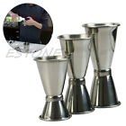 3 Size Jigger Single Double Shot Cocktail Wine Short Measure Cup Drink Bar Party