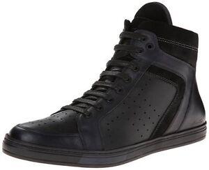 Kenneth Cole Men's Big Brand Hi top Sneakers, Brown, Black, Navy
