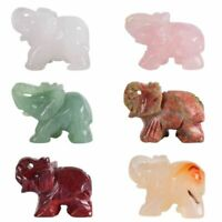 Elephant Figurine Natural Stone Figurines Mini Healing Statue Crystal Home Decor