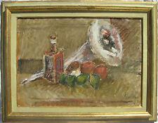 Emanuele CAPPELLO (Ragusa 1936) Natura morta con frutta e caffettiera OLIO 50x70
