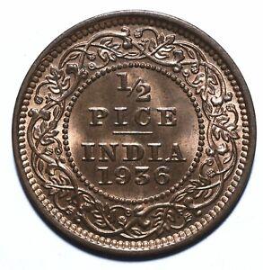 1936 India - British Half 1/2 Pice - George V - Lot 467