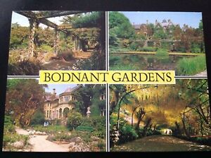 unused Welsh multiview Postcard - Bodnant Gardens - Denbighshire - Wales