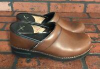 Dansko Brown Leather Clog Women's Shoes Size US 7.5 EUR 38