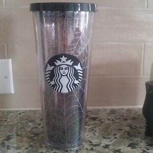 New Starbucks Glitter Spiderweb Tumbler  Cold Cup Limited Edition Halloween 2019