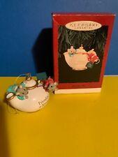 Vintage 1995 Hallmark Keepsake Ornament Two For Tea QX5829 Mice  w/box