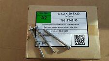 Box of 200 A2 stainless steel screws C 4,2 x 50 TX 20 Pan head tapping screws