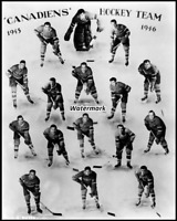 NHL 1945 - 46 Montreal Canadiens Team Picture Black & White 8 X 10 Photo Picture