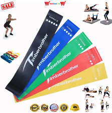 5 Set Mini Bands Multi Resistance Training Band Heavy Gym Workouts Crossfit New