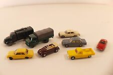 Wiking Märklin Lot de 8 voitures Volkswagen VW Peugeot Mercedes Volvo 1/87 HO